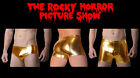 MENS ROCKY HORROR PICTURE SHOW ROCKY GOLD BRIEFS SHORTS BOXERS NEW LYCRA SPANDEX