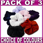 Set of 3 Velvet Hair Scrunchies 10cm elastic scrunchie red navy black pink lilac