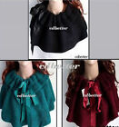 Women Girls Warm Ribbon Cape Style Neck Scarf Shawl Wrap Scarves NEW 3 Colors