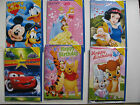 Disney Music Cards Happy Birthday Musical Singing Sounds Gift Kids Boys Girls BN