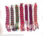 FRIENDSHIP BRACELET DOUBLE WOVEN WOOL INDIAN HANDMADE GOOD LUCK FREE UK POSTAGE