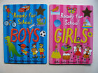 Ready For School Books Stickers Numbers Words Games Boys Girls School Learning