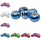 New Resin Smooth Round European Spacer Beads Fit Charms Bracelets 8 Colors