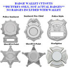 Police Sheriff Firefighter Officer Fire Chief Leather Badge Wallet Case Holder