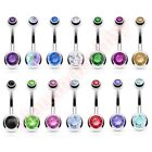 Press Fit Gem Belly Button Bar Ring Navel Body Piercing Jewellery