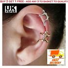 UK HOT SILVER / GOLD CLIMBING MAN NAKED CLIMBER EAR CUFF HELIX CARTILAGE EARRING