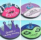 Fun Novelty Wine Glass Drink Coaster Slippers Identifier Markers Girlie Nights