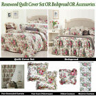 ROSEWOOD Bedspread SINGLE KING-SINGLE DOUBLE QUEEN KING Cream Background