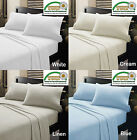 MICRO FLANNELETTE Sheet Set - WHITE CREAM LINEN BLUE - Single Double Queen King