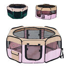 PawHut Pet Pen Folding Playpen Cage Tent Kennel Soft Exercise Crate