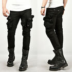 New Mens Fashion Cool Stylish Tough-chic Wax Coated Oil Cargo Skinny Jeans Pants