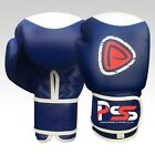 BRAND NEW MACHINE MOULDED FOAM BOXING GLOVES FIGHT PUNCH BLUE REX LEATHER BAG