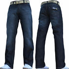 NEW MENS ENZO DESIGNER SALE JEANS PANTS FREE BELT WAIST SIZE 32 34 36 38 40 42