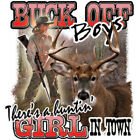 "Dixie Girls"" THERE'S A HUNTIN' GIRL IN TOWN "" T SHIRT"