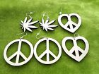 Wooden earrings natural plain wood for crafts laser peace, marijuana, cannabis