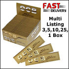 3, 5, 10, 20, 50 BOOKLETS OCB GOLD KING SIZE PREMIUM SLIM  ROLLING PAPERS