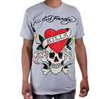 Ed Hardy Grey Mens Love Kills Slowly Graphic Tee Shirt