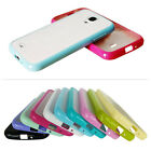 1/8 Soft TPU Frame Matte Clear Hard Back Case Cover For Samsung Galaxy S4 i9500