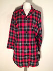 NEW Lauren by Ralph Lauren Lake House Brushed Flannel Plaid Sleepshirt 813458