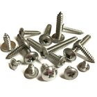 No. 6 8 10 Pozi Flange Self Tapping Screws - A2 Stainless Flanged Tappers BS4174