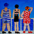 Needlepoint canvas ''Retro Ladies at the Ocean''