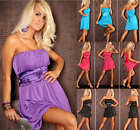SEXY & STUNNING SHORT BANDEAU DRESS SIZE 12 14 16 18 BNWT