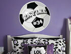 Personalized Soccer Ball Vinyl Wall Decal Sticker Custom Colors