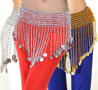 New Belly Dance Beaded Fringe Tassel Coin Belt Chain Skirt Dancing Costume