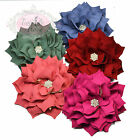 12cm Ruffled Dahlia Flower Floral Girl Hair Clips Grip Bobbles Bridesmaid Bridal