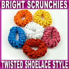 Twisted Shoelace Style Hair Scrunchie stretchy hair band red pink orange blue