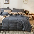 Duvet Quilt Cover Set Queen King Size Bed Doona Cover Flat Fitted Sheet Set New
