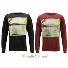 MENS D-STRUCT GRAPHIC PRINTED DESIGNER SWEATSHIRT JUMPER T-SHIRT TOP SIZES S-XXL