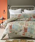 AIR MAIL Beige - 100% COTTON Quilt Cover Set - SINGLE DOUBLE QUEEN KING