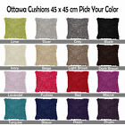 16 Color Choice - OTTAWA Shaggy Tuft Style Filled Scatter Cushion - 45cm x 45cm