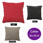 RED BLACK CHAMPAGNE - CORALS Beaded & Filled Cushion - 30cm x 30cm