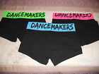 "Black Dance Shorts ""DANCE MAKERS"" w Bright Color Waistband by POPULAR SPORTS"
