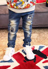 1688 Boutique Washed Blue Destructed Skull Soft Denim Jeans Slim Cut Stretchable