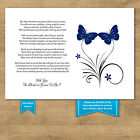 Wedding Money Voucher Request Poems For Invites Butterfly 7 Colour Choices