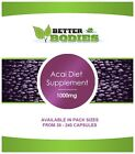 Acai Berry 1000mg Capsules Fast Weight Loss Diet Tablets Better Bodies Slimming