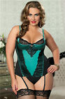Simply Stunning Green Bustier STM-9637 Sexy Womens Lingerie 7tilMid Plus Size