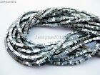 Natural Hematite Gemstone Flat Square Sliced Chip Loose Beads Silver 16''