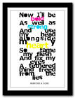 MUMFORD & SONS I Will Wait - song lyric poster art typography print - 4 sizes