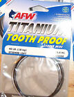 AFW TITANIUM SINGLE STRAND TOOTH PROOF FISHING LEADER WIRE BLACK 15 ft.