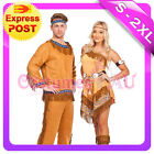 Noble Warrior Native American Indian Wild West Halloween Fancy Dress Costume