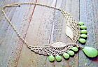 Angel Wing Necklace Rhinestone Tear Drop Adjustable Statement Fashion Jewelry
