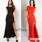 Graceful Ladies Sexy Split Side Bodycon Club Evening Party Slim Maxi Long Dress
