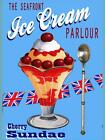 RETRO METAL PLAQUE :The SEAFRONT ICE CREAM PARLOUR sign/ad
