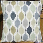 TRENDY NEW RETRO 60S STYLE CUSHION COVERS BLACK GREY PATTERN - PLAIN GREY BACK