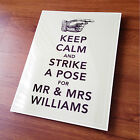 KEEP CALM WEDDING PHOTO BOOTH METAL SIGN PLAQUE CUSTOMISABLE vintage shabby chic