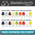 Charles Ray Eames Eiffel Plastic DSR DSW Lounge Dining Side Chairs - Retro